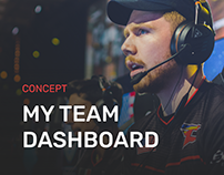 Team Dashboard Concept.
