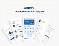 Comfy Home Services App - UI Design