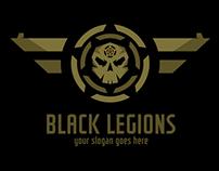 Black Legions Skull logo Template