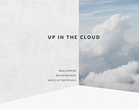 Up In The Clouds . Free Mock-up Materials