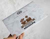 Pocket Invitation Envelope MockUps