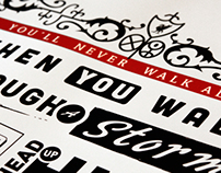 Poster - You`ll never walk alone