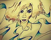 Julia profil picture illustration