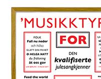 Poster - Musikktyper