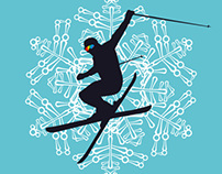 winter sports vector art set