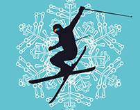 winter sports vector art set