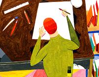editorial illustration - Bedroom