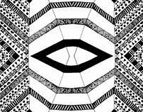 Folded paper pattern