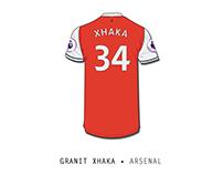 Granit Xhaka • Arsenal Gunners
