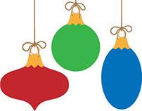 Free Vector Christmas Ornaments.