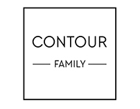 Logo and posters for Contour Family.