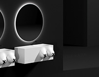 X Naked freestanding washbasin concept