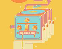 WARP + SXSW - Poster