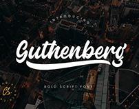 Guthenberg Script Font