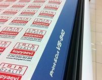 Bas-Kes ( İstenilen şekil ve ebatta etiket üretimi )