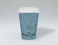 Coffee cup design for Shelter Coffee store