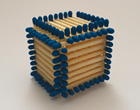 A cube from matchsticks