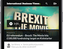 IBTimes.co.uk - Mobile redesign