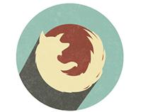 Firefox illustration ad