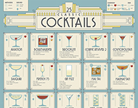 Art Deco Inspired Cocktail Poster