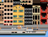 Galata and Istanbul pixel work