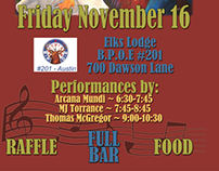 Elks Lodge 11-16-12 Benefit Poster