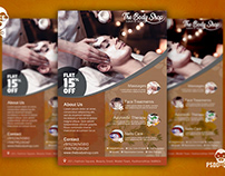 Spa Flyer + Social Media Free PSD Template