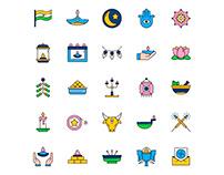 Diwali Icons Set