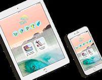 Interface d'application mobile pour Tian