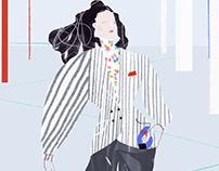Louis Vuitton fashion illustrations
