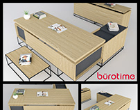 Bürotime Grid Executive Table Desk 3D Model