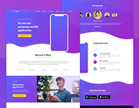 Wavy mobile app landing page