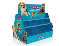 Pet Food POS Display Stand