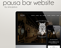 Pausa Bar Website
