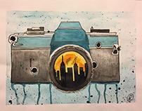 Camera watercolor