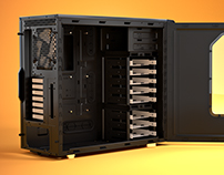 Fractal Design R4 3D Product Rendering