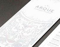 Arque Champagne Crescent menu Illustrations