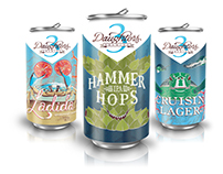 Three Daughters Brewery Beer Can and Packaging