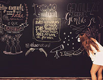 Chalklettering Luxo Natural.