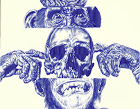 'politics' Bic biro sketchbook page