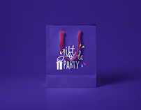 Gift and party logotype