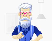 Sales Pistol, Illustrations for gamification app