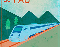 Paris to Pau Illustration