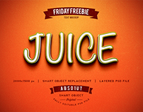 FRIDAY FREEBIE: Juice Photoshop Text Effect