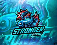 Free Download Stronger eSport gaming mascot logo