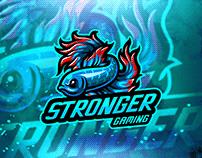 Free Download Stronger eSport gaming mascot logo