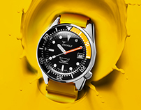 B journal #10 - Editorial Adv for Squale diving watches