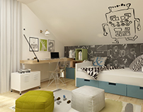 interior design  ~ room for the boy