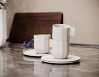 Product Rendings - HAY Paper Porcelain