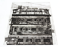 Post-apocalyptic visions - etching series